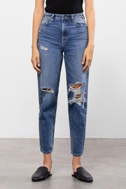 Hidden Jeans Medium Wash Two Tone Distressed Mom Tapered Fit - Other