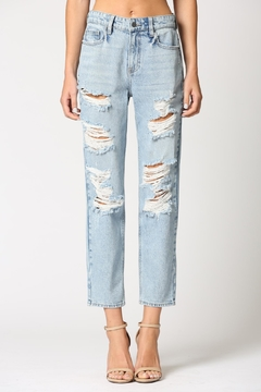Shoptiques Product: Ripped Up Boyfriend Jean
