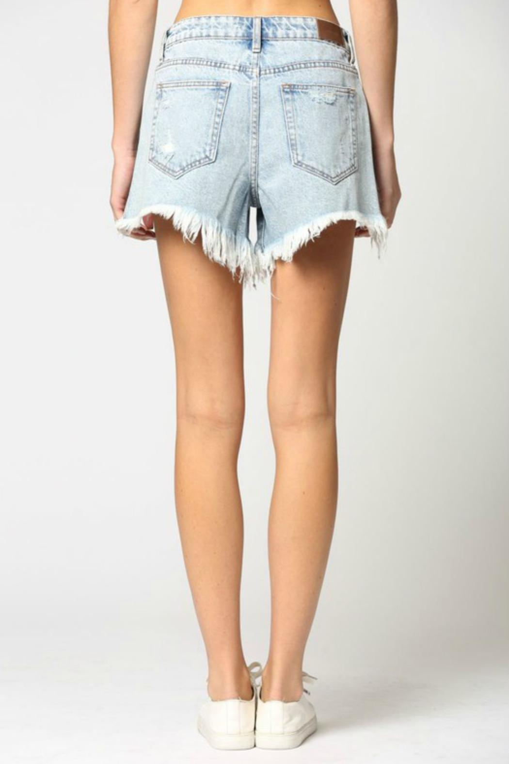 Hidden Jeans Sofie Mom Shorts - Back Cropped Image