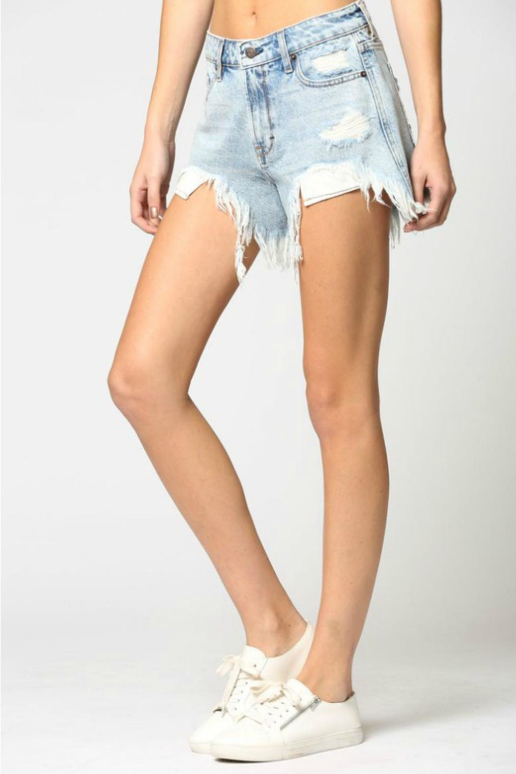 Hidden Jeans Sofie Mom Shorts - Side Cropped Image