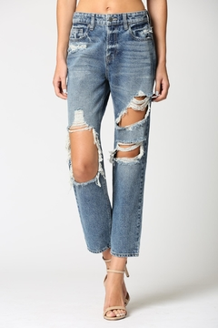 Shoptiques Product: Super Destroyed Boyfriend Jean