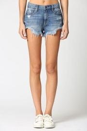 Hidden Jeans Super Frayed High Rise Shorts - Product Mini Image