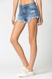 Hidden Jeans Super Frayed High Rise Shorts - Side cropped