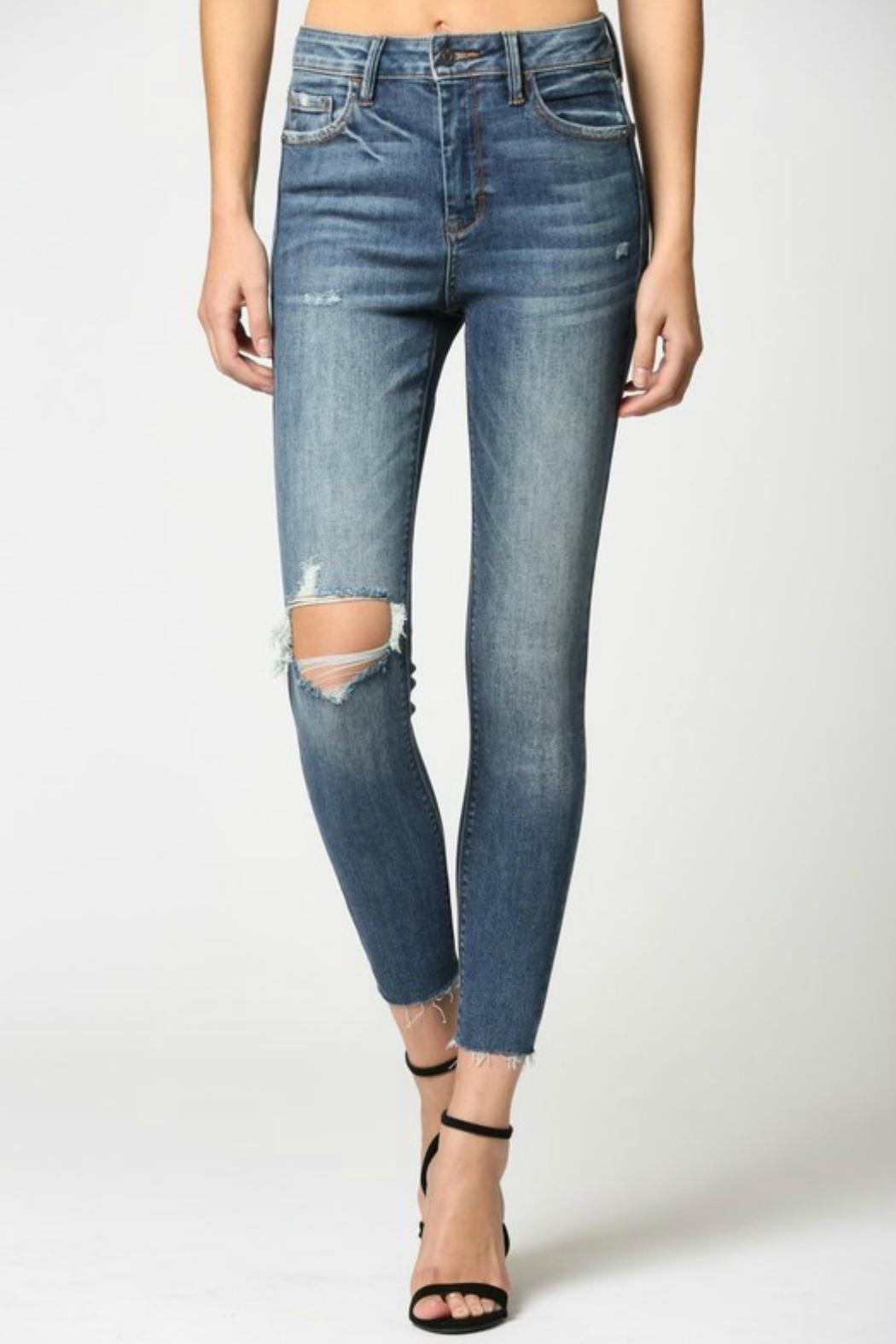 Hidden Jeans Taylor Distressed Skinny - Front Full Image