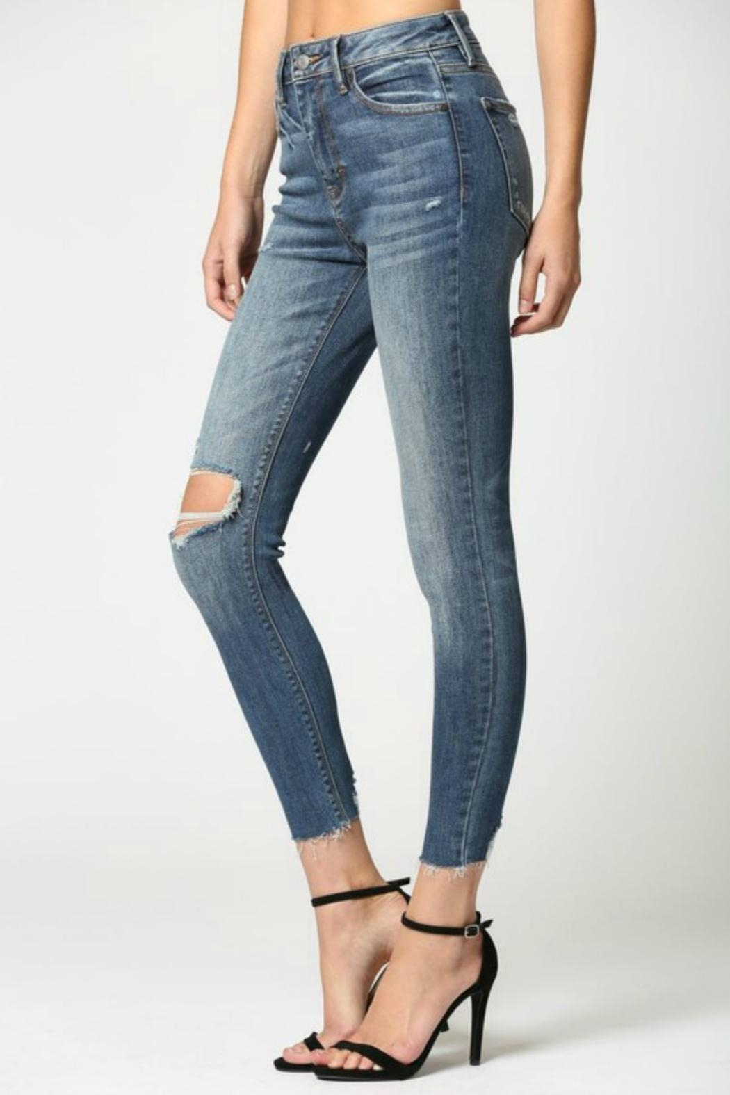 Hidden Jeans Taylor Distressed Skinny - Side Cropped Image