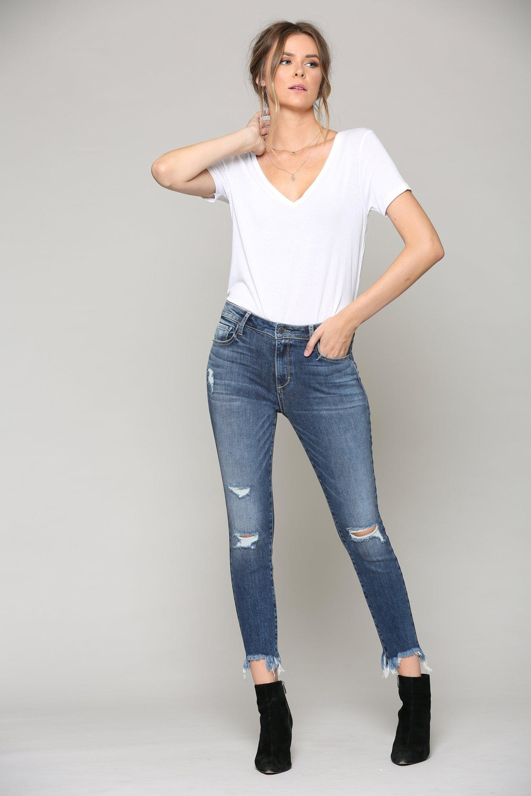 Hidden Jeans Taylor High-Rise Skinny - Front Full Image