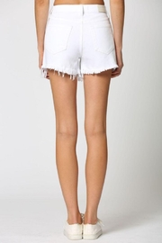 Hidden Jeans White Heavy Fray Mom Shorts - Side cropped