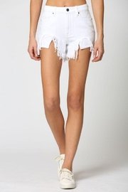Hidden Jeans White Heavy Fray Mom Shorts - Other