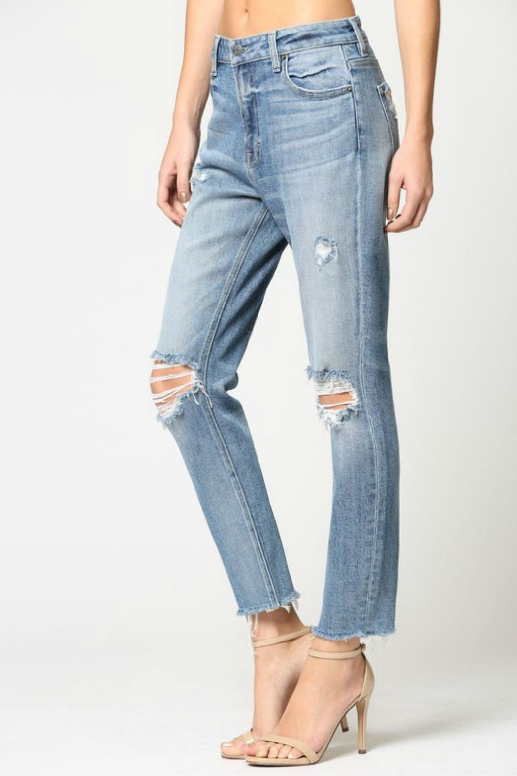 Hidden Jeans Zoey Mom Jeans - Side Cropped Image