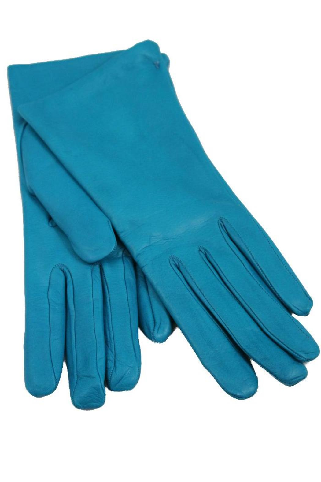 Womens leather gloves teal - Turquoise Leather Gloves