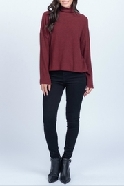 Everly Hig neck rib top - Product Mini Image