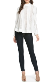 TOV High Collar Blouse - Front cropped