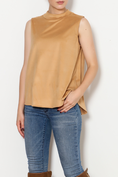 Kay Celine High Collar Suede Tank - Product List Image