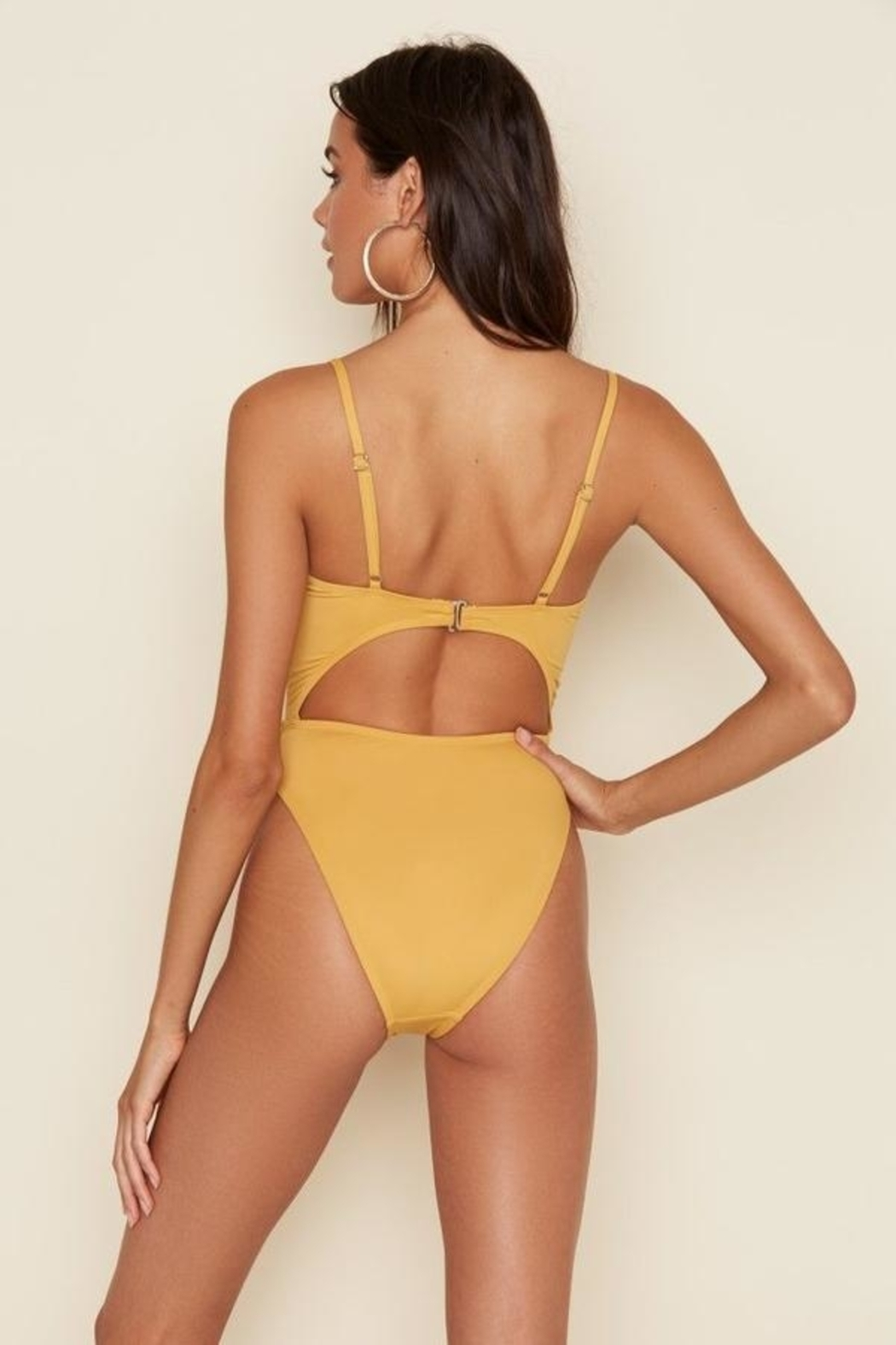 Dippin Daisy's High Cup Tie Front One Piece Swimsuit - Side Cropped Image