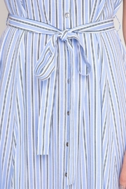 She + Sky Striped Button-Down Shirtdress - Back cropped