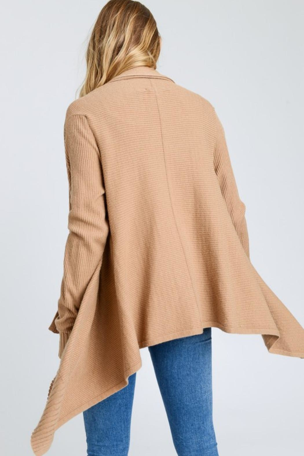 Love Tree High-Low Cardigan - Side Cropped Image