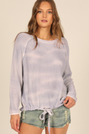 Vintage Havana  High Low Crew Neck Sweater - Front cropped