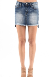 KanCan High Low Denim - Front cropped