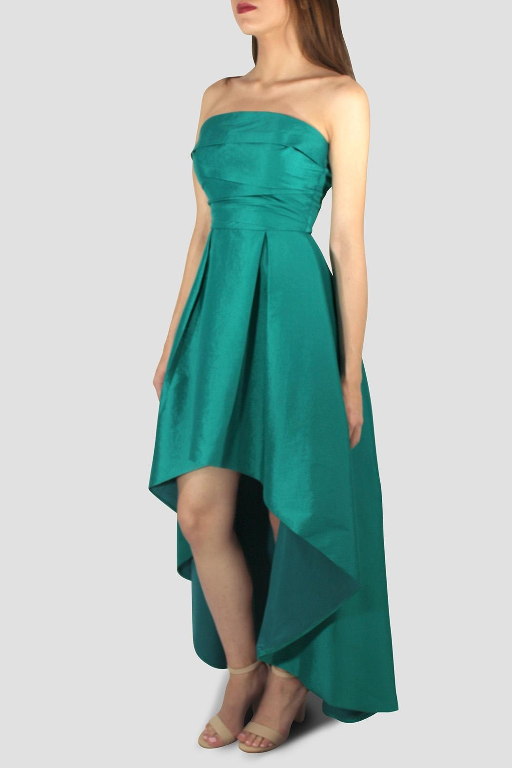 SoZu High-Low Draped Strapless - Front Full Image