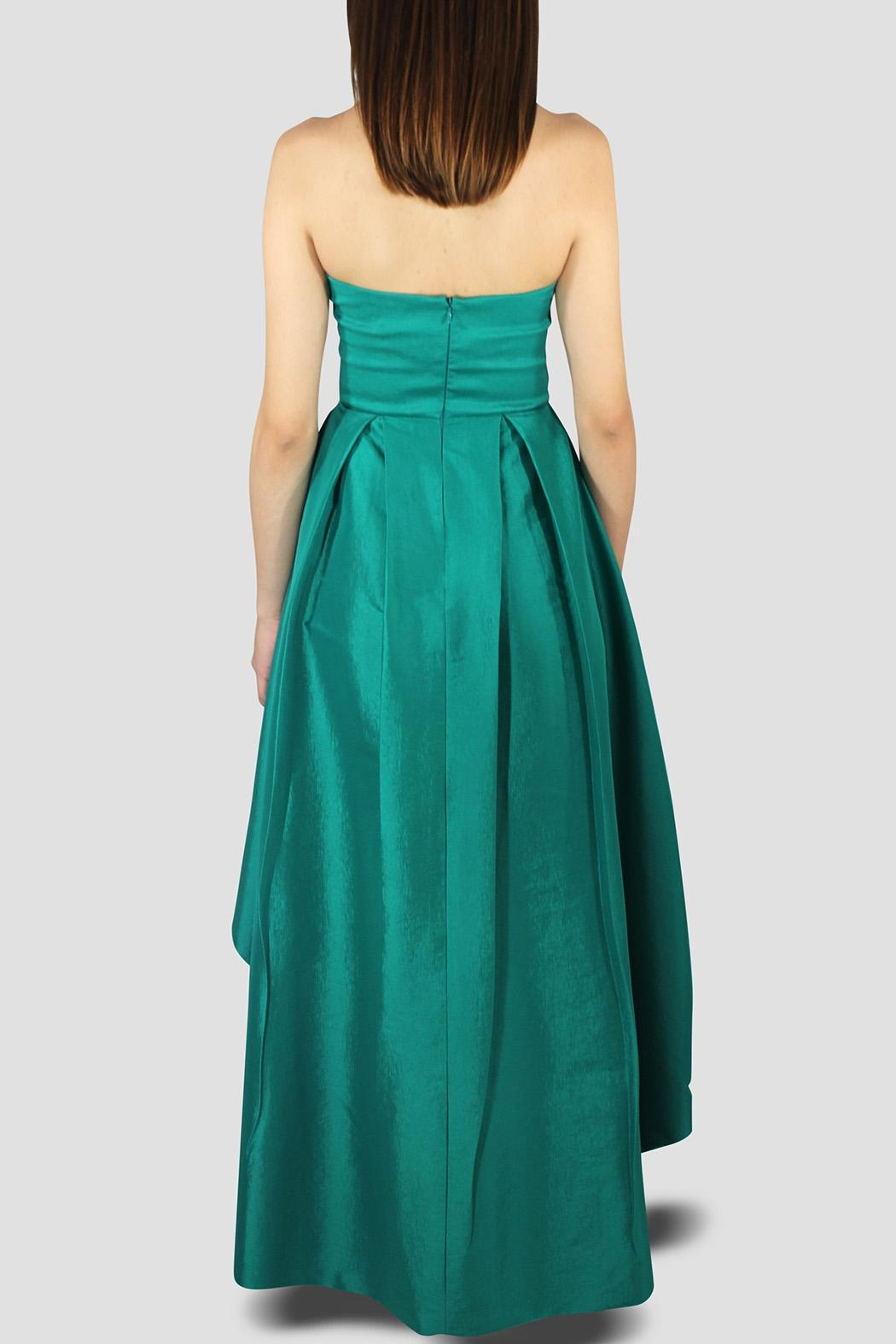 SoZu High-Low Draped Strapless - Side Cropped Image
