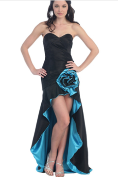 Cindy Collection High-Low Flower Gown - Alternate List Image