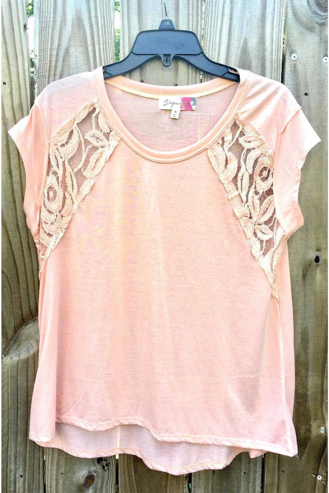 Love's Hangover Creations High-Low Lace Top - Main Image