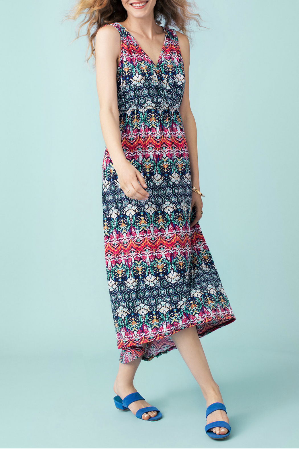 Tribal High low maxi dress - Front Cropped Image