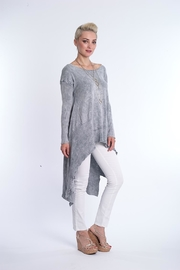 BK Moda High Low Mineral Wash Tunic - Front full body