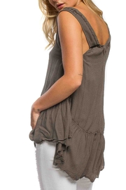 Anama High-Low Peplum Tank - Front full body