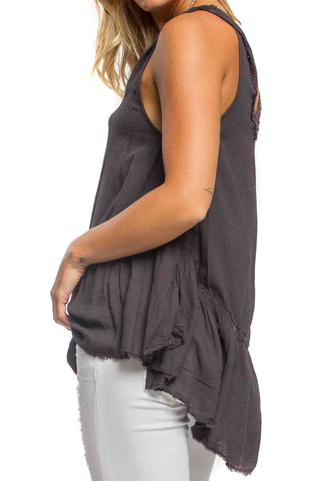 Anama High-Low Peplum Tank - Front Full Image