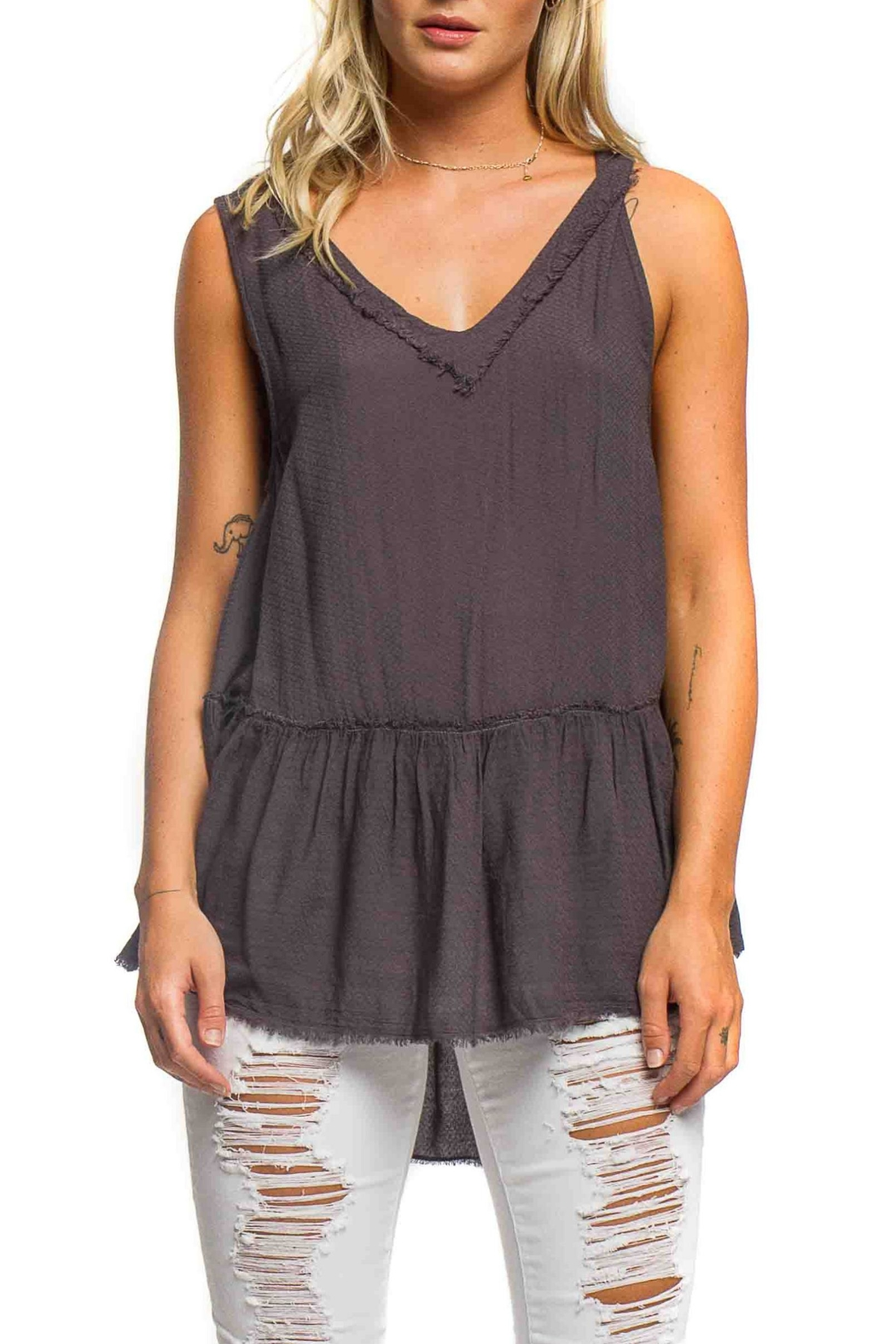 Anama High-Low Peplum Tank - Main Image