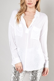 She + Sky High-Low Pocket Blouse - Product Mini Image
