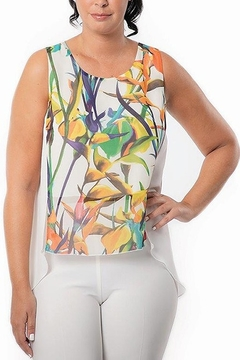 Bali Corp. High Low Printed Tunic Top - Alternate List Image
