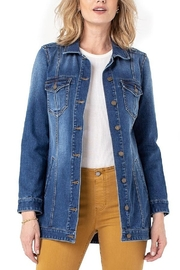Liverpool  High Low Shirt Jacket - Front cropped