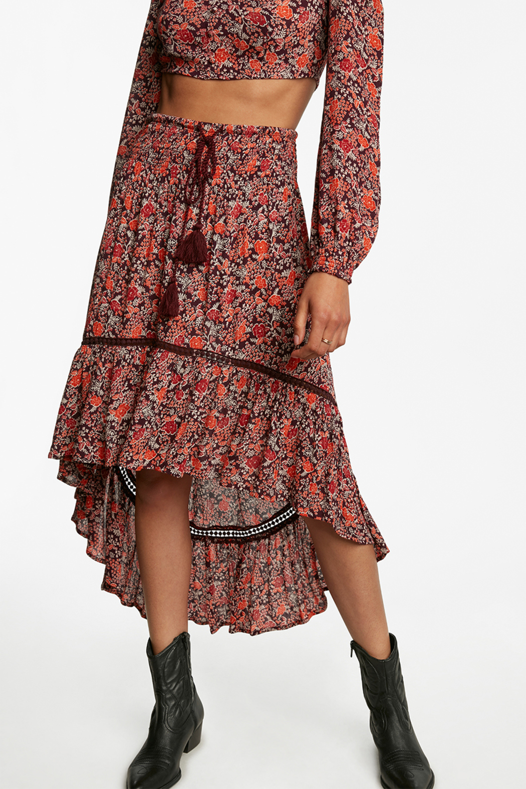 Patrons of Peace HIGH LOW SKIRT - Front Full Image