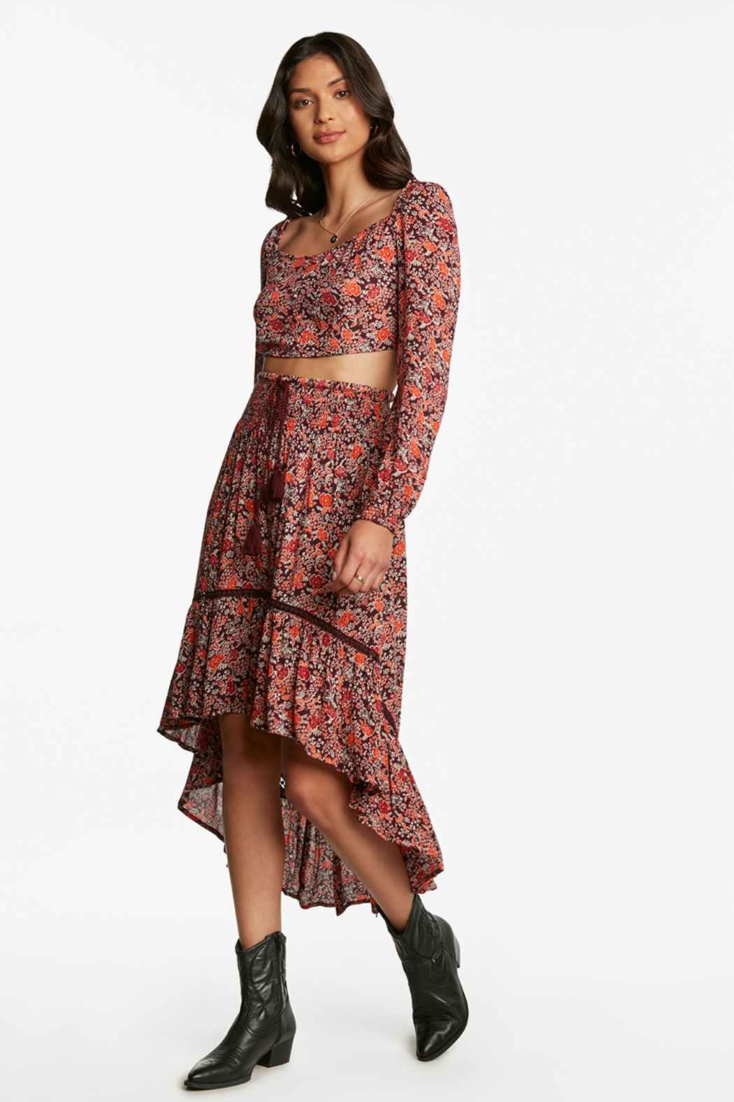 Patrons of Peace HIGH LOW SKIRT - Main Image