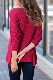 She + Sky High-Low Slouchy Knit Sweater - Side cropped