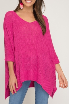 She + Sky High-Low Slouchy Sweater - Alternate List Image