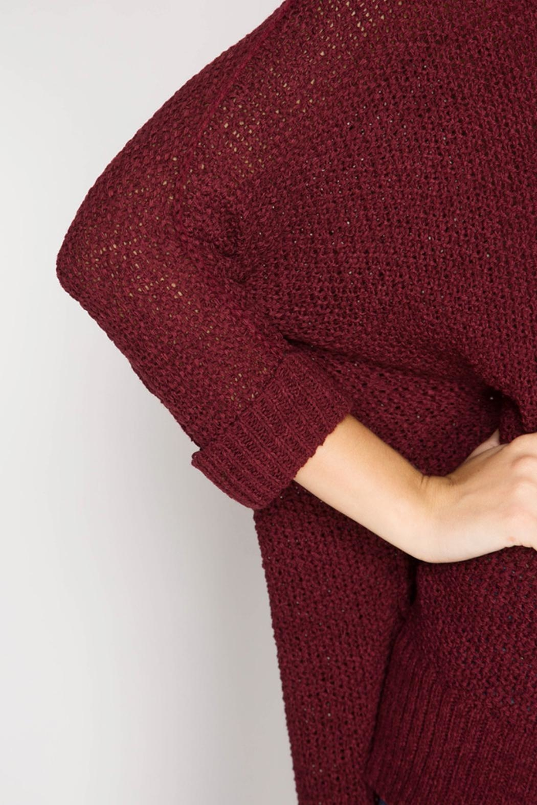 She + Sky High-Low Slouchy Sweater - Back Cropped Image