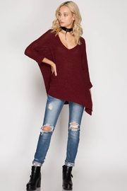 She + Sky High-Low Slouchy Sweater - Other