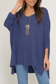 She + Sky High-Low Slouchy Sweater - Product Mini Image