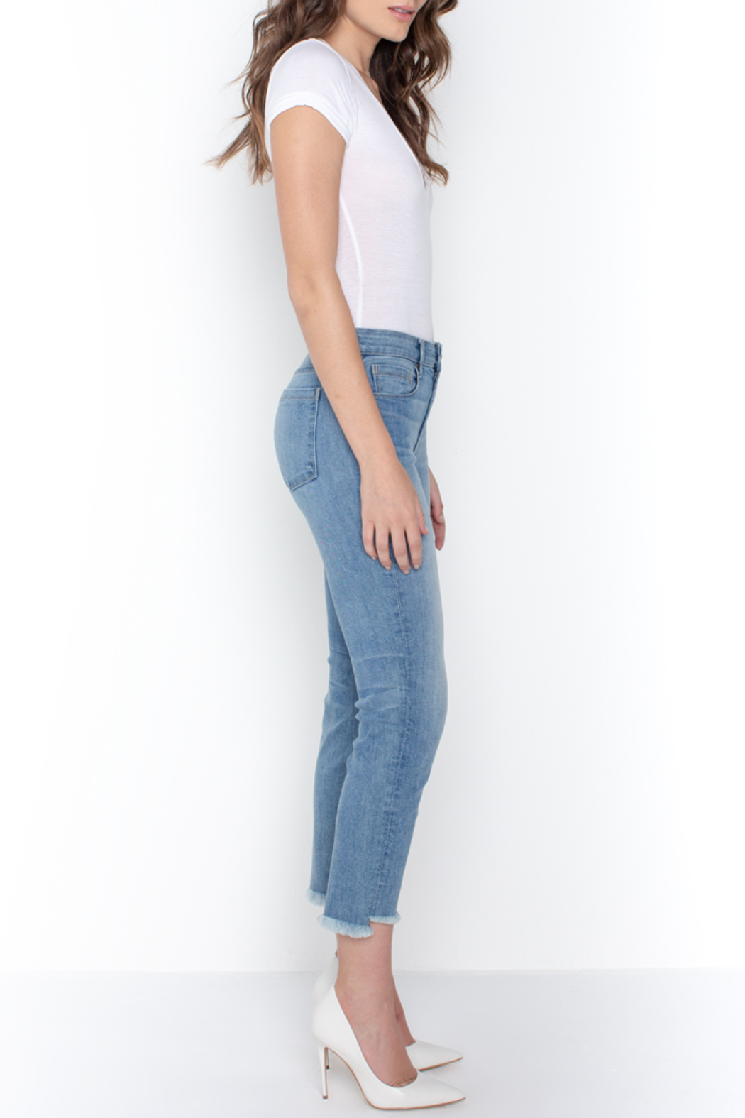 Parker Smith  HIGH-LOW STRAIGHT JEAN - Side Cropped Image