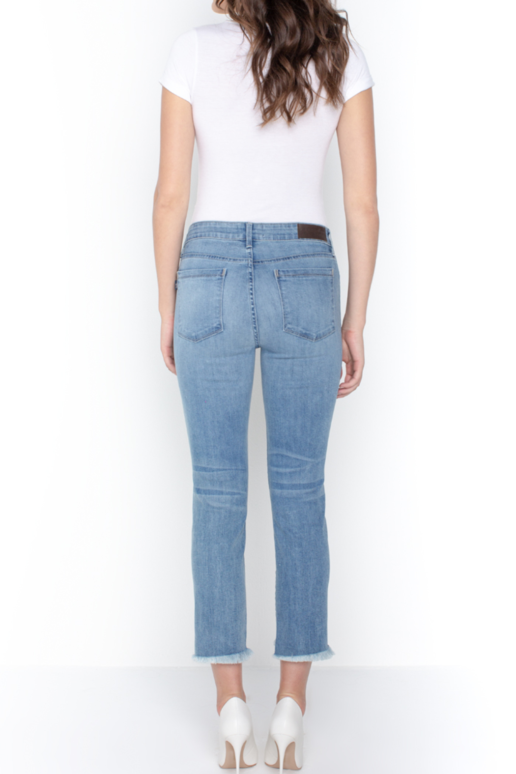 Parker Smith  HIGH-LOW STRAIGHT JEAN - Back Cropped Image