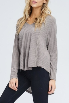 In Loom High-Low Waffle Top - Product List Image