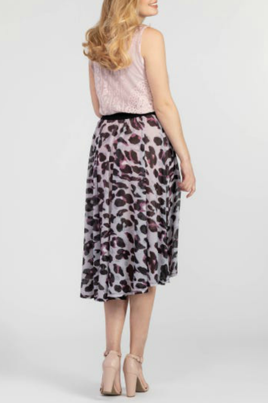 Tribal High Low Wrap Skirt - Front Full Image