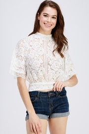 A Peach High Neck Blouse - Product Mini Image