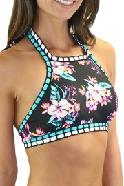 Heat Swimwear High Neck Floral - Front full body