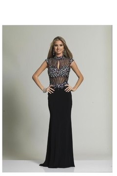 Dave and Johnny High Neck Gown - Product List Image