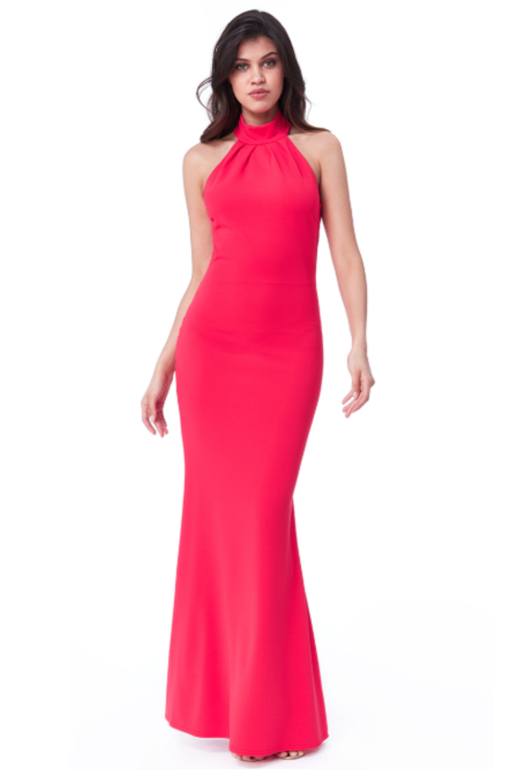 City Goddess  High Neck Gown - Main Image