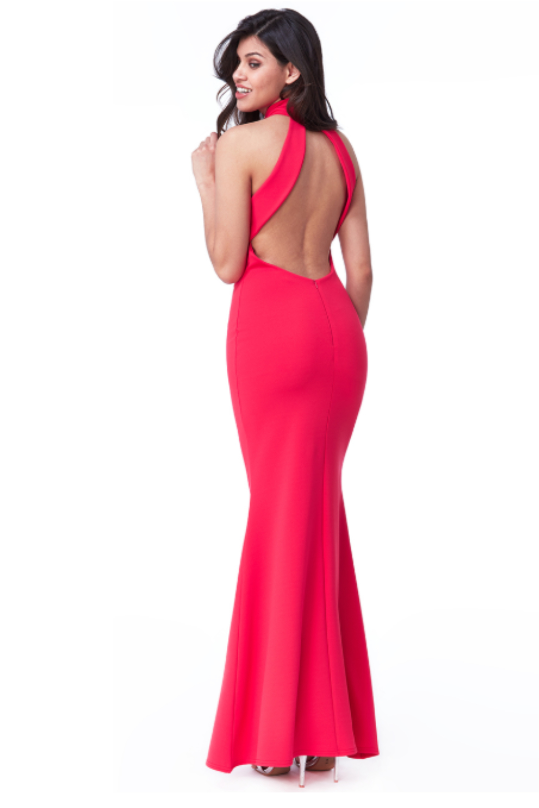 City Goddess  High Neck Gown - Front Full Image